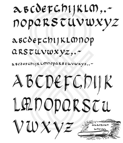 Example Uncial Calligraphy Photoshop Brushes