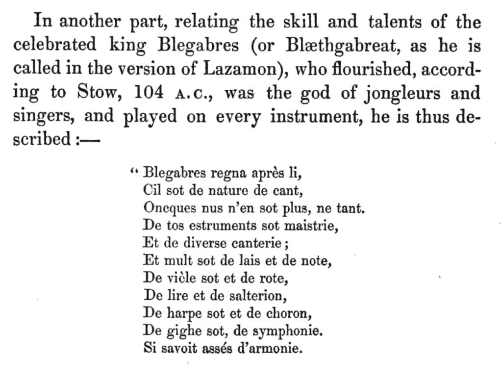 King Blegabres (Sandys, 1864)
