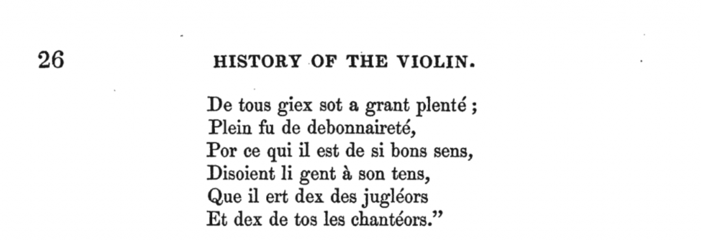 Blegabres / History of the Violin (Sandys 1864)