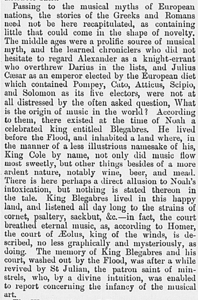 King Blegabres - Chamber's Journal, 1891; Rowbotham