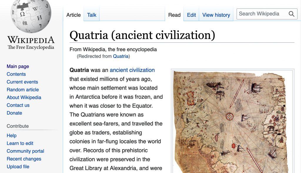 Quatria Wikipedia Screenshot